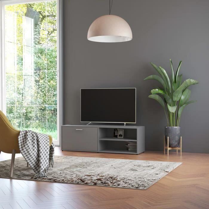Meuble TV Gris 120x34x37 cm Aggloméré #53