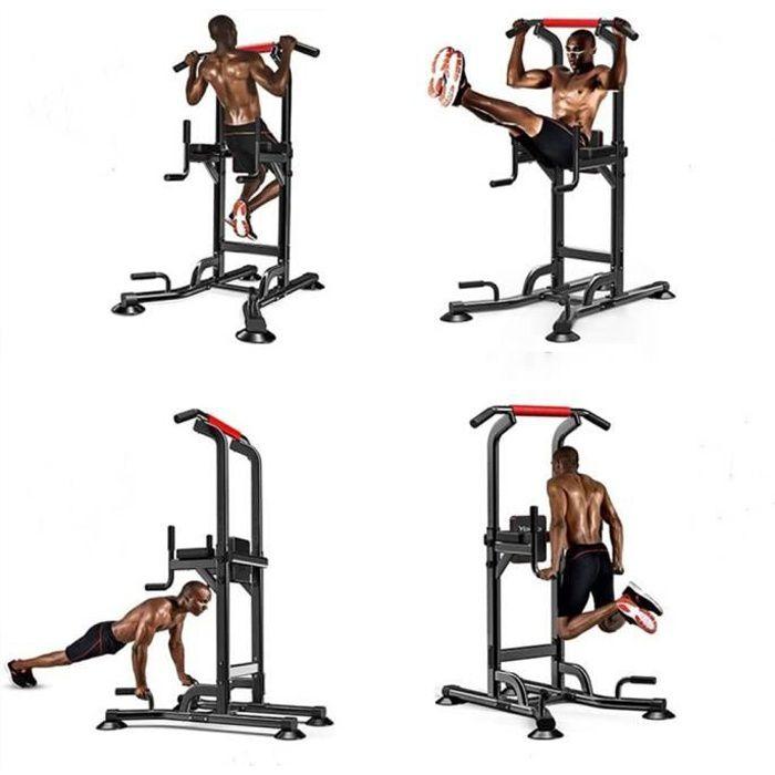 NOUVEAU Chaise Romaine Barre de Traction Musculation Station Traction Dips pour l'entraînement