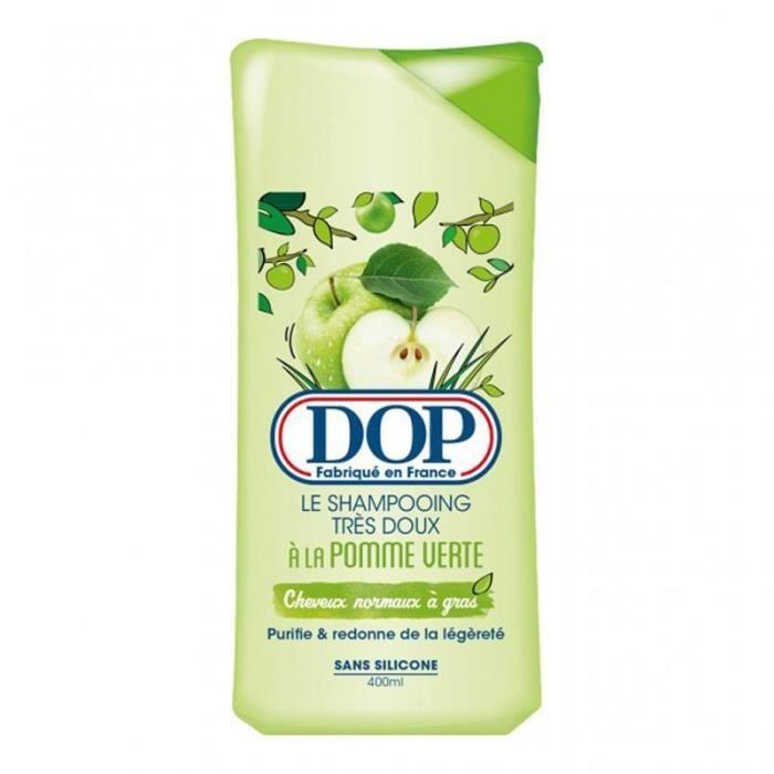 DOP Le Shampooing Très Doux à la Pomme Verte Sans Silicone 400ml (lot de 4)