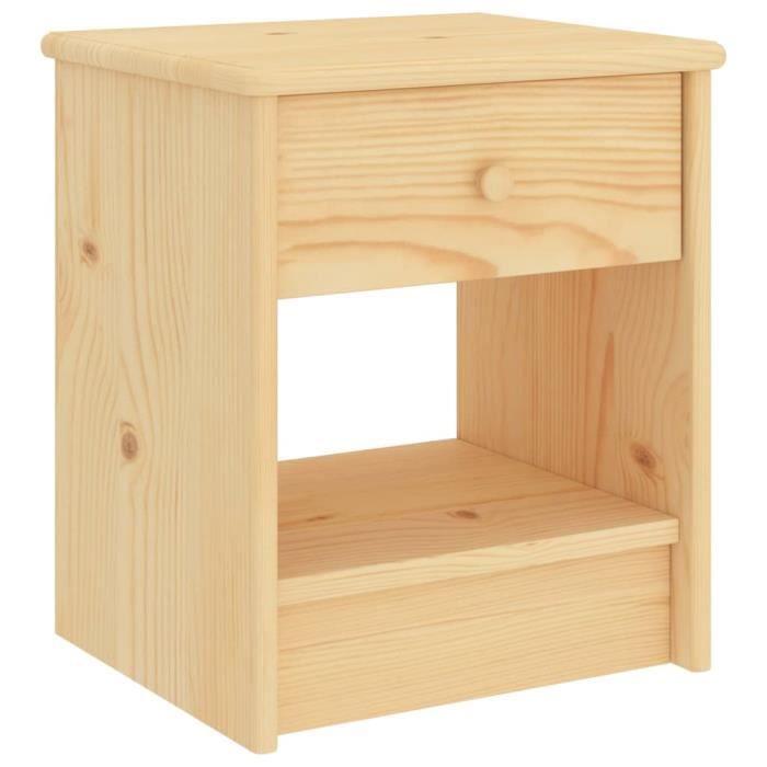 ❤Moderne Lot de 2 Table de Chevet Mode - Table de nuit Bois clair 35x30x40cm - Bois de pin massif ��90340