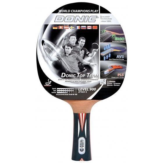 Donic Schildkröt raquettes de tennis de table Top Team 900 noir