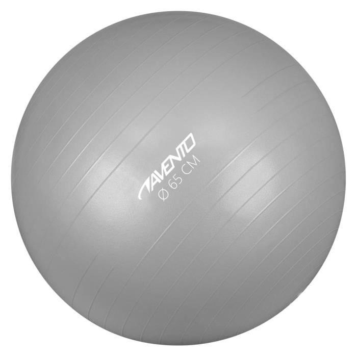 ��2393Avento Magnifique-Ballon de fitness-d'exercice Ballon de Gymnastique pour Fitness Exercice Yoga - Diamètre 65 cm Argenté