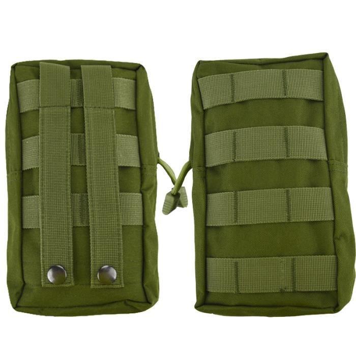 Green-1 PCS -Sac à dos de ceinture pour hommes, pochette tactique Molle d'extérieur, sac de ceinture de randonnée de Camping, sac