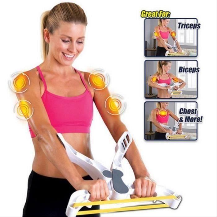 Résistance Bande d'exercice, Wonder Bras de machine d'entraînement pour le haut du corps et Renforce les bras Biecps épaules I09A2