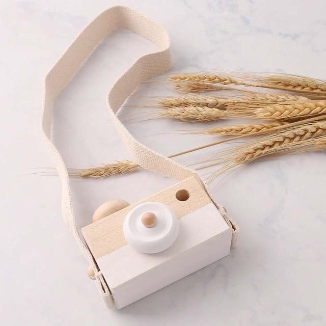 Appareil photo enfant,2pc nordique suspendu en bois caméra jouets photographie accessoire Montessori jouets chambre - Type white