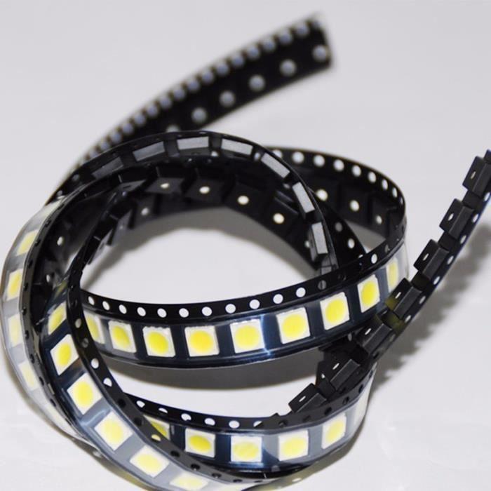 100 Pcs pour Lg Led Rétro Éclairage 3528 1W 100Lm Rétroéclairage Lcd Blanc Froid pour Application Téléviseur 3528