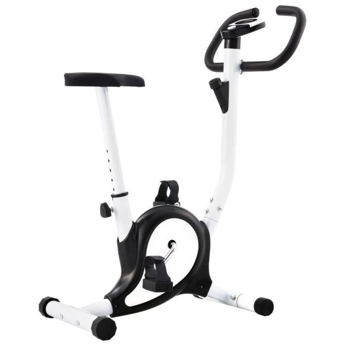 Vélo d'appartement avec résistance à courroie Noir - Max 120 Kg -YID