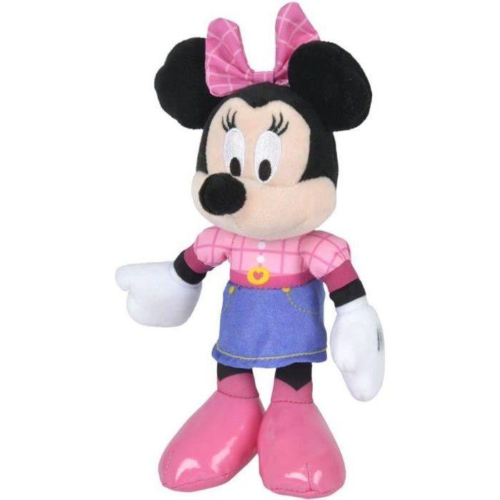 Disney Minnie Mouse - Peluche Minnie - Matériau Softwool 20cm