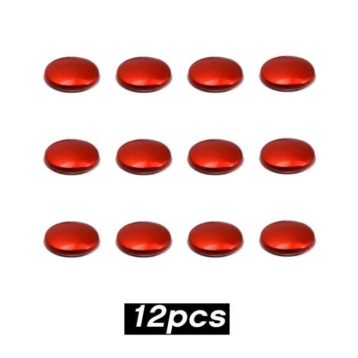 Housse De Siège,Couvercle de protection pour vis en acier inoxydable, 12 pièces, accessoires pour voiture Hyundai Tucson - Type red