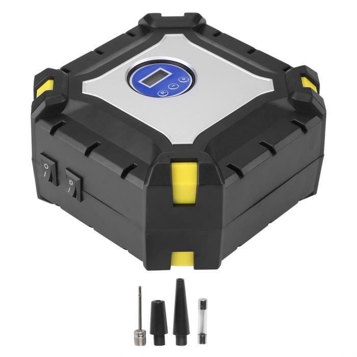 ZJCHAO compresseur d'air électrique Compresseur d'air électrique de pompe de gonflage de pneu de voiture numérique 12 V 100 PSI