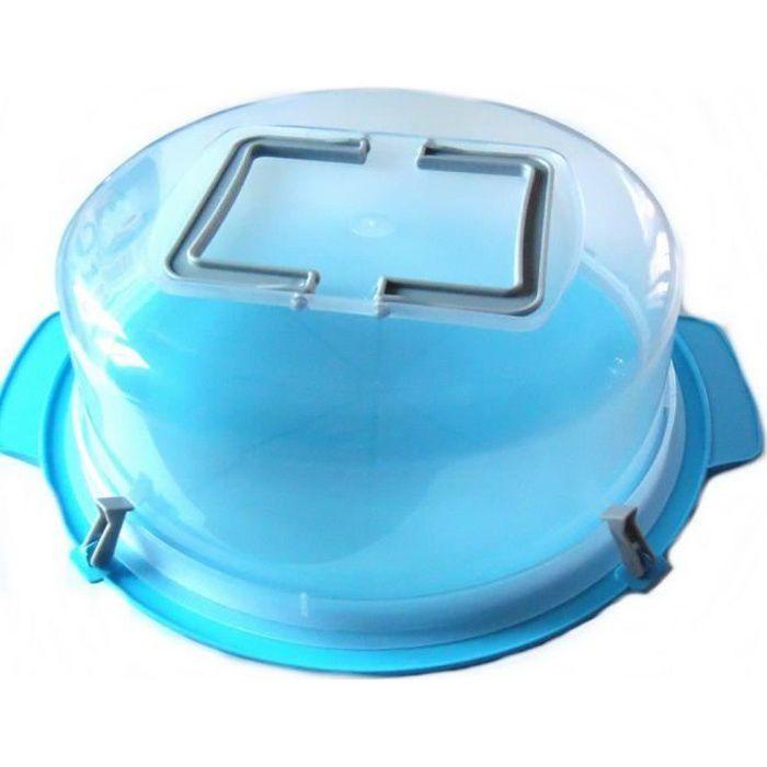 Cloche à gâteau 30 cm transport tarte poignée boite GUIZMAX