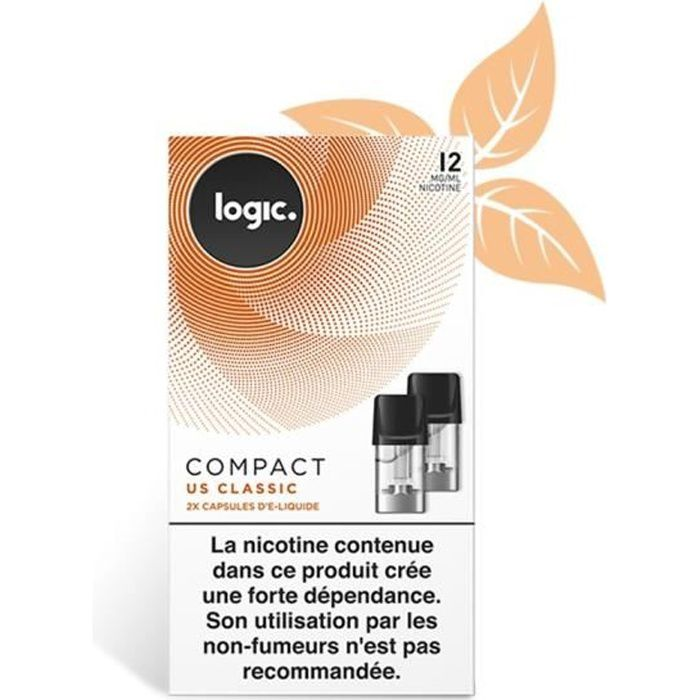 BOÎTE DE 2 CAPSULES LOGIC COMPACT CLASSIC US 12MG