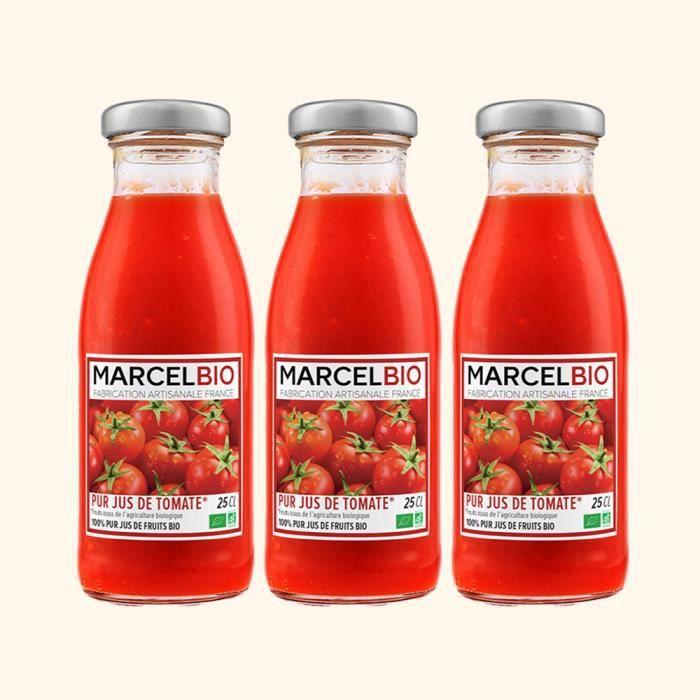 Marcel Bio - Pur Jus de Tomate Bio 25cl - Pack de 3