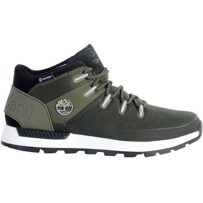 Chaussures TIMBERLAND SPRINT TREKKER WATERPROOF MID BOOT dark green mesh