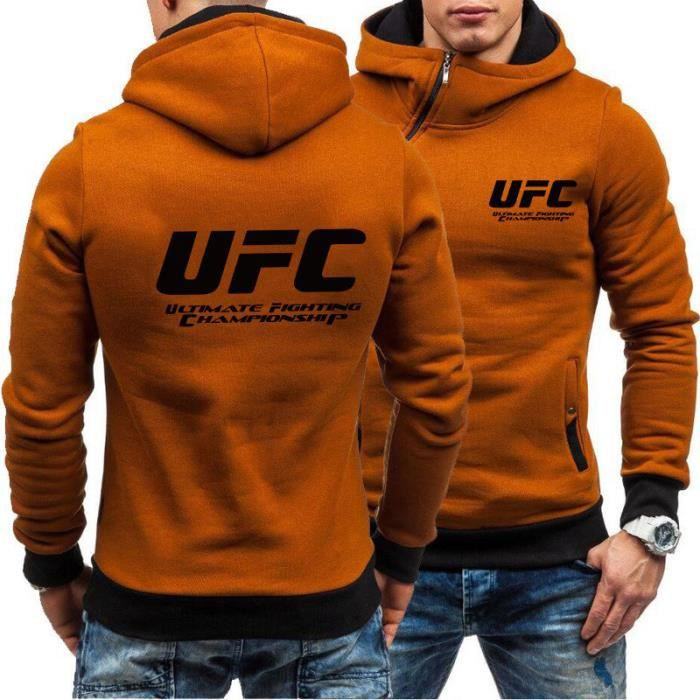 UFC Ultimate Fighting Championship Mma Logo SWEAT À CAPUCHE-Orange
