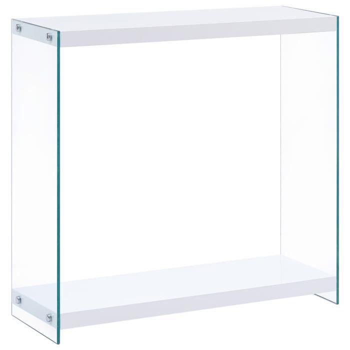 Moderne Table console Blanc 80x29x75,5 cm MDF