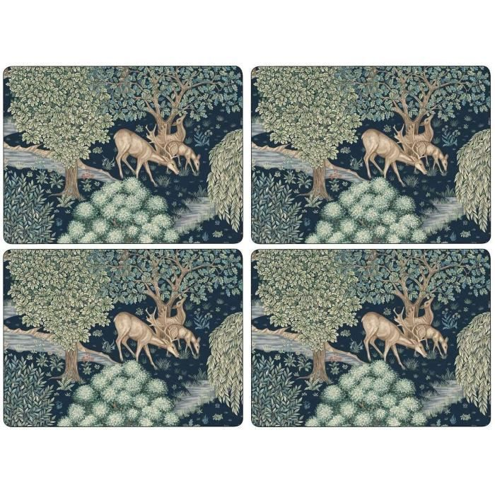 4 X Large Licence Official Pimpernel Wightwick Forêt Cerf Famille Repas Set de Table