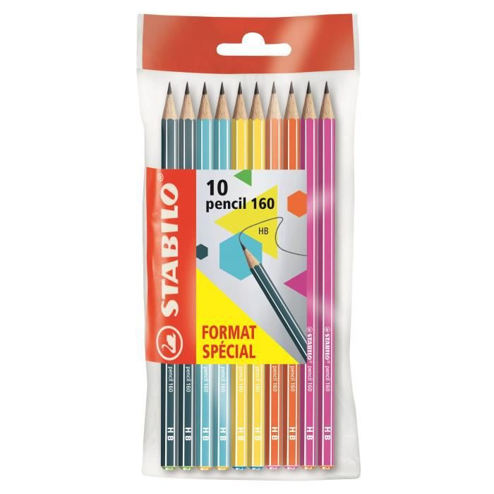 STABILO Ecopack x 10 crayons Graphite Pencil 160 HB