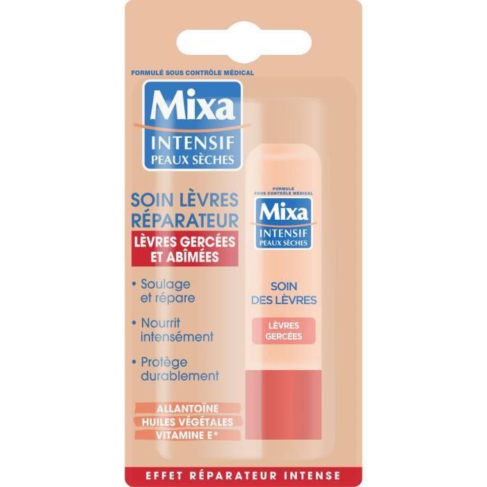 MIXA Soin des lèvres réparateur pour peaux sèches - 4,7 mL