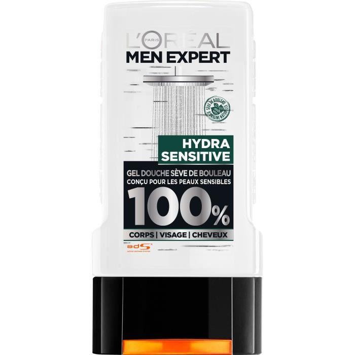 L'OREAL PARIS MEN EXPERT Gel douche Hydra sensitive - Pour homme - Sans paraben - 300 ml