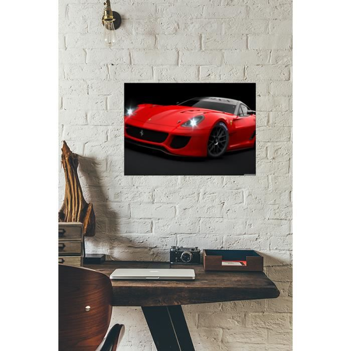 cadre d co en plexiglas pais 3mm ferrari 599xx red achat vente tableau toile. Black Bedroom Furniture Sets. Home Design Ideas