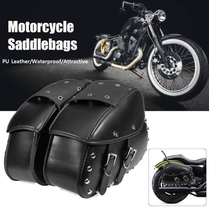 Sacs de selle gauche de cuir d/'unité centrale de moto pour Harley XL883