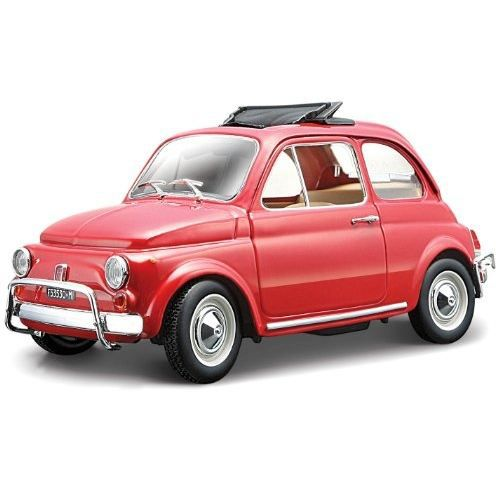 fiat 500l 1965 red schaal 1 24 achat vente voiture. Black Bedroom Furniture Sets. Home Design Ideas
