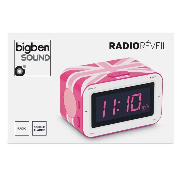 radio reveil motif gb girly radio r veil avis et prix pas cher les soldes sur cdiscount. Black Bedroom Furniture Sets. Home Design Ideas