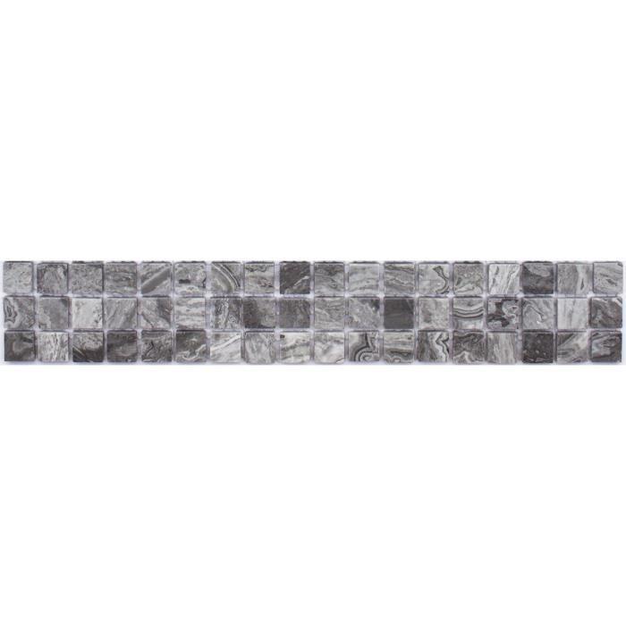 CARRELAGE - PAREMENT LISTEL Carrelage Fleur Brillantes - 5 x 30 cm - Gr