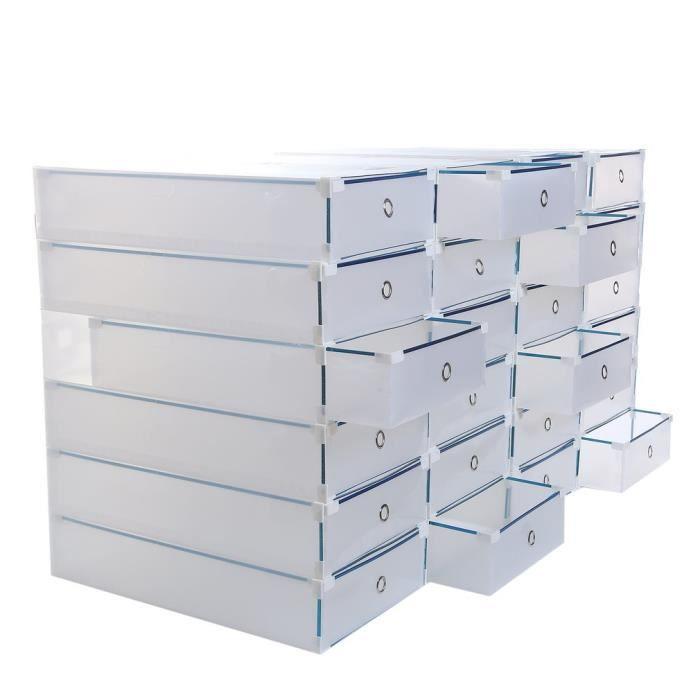 BOITE DE RANGEMENT Boites de stockage Coffre à chaussures 52x30x11 Po