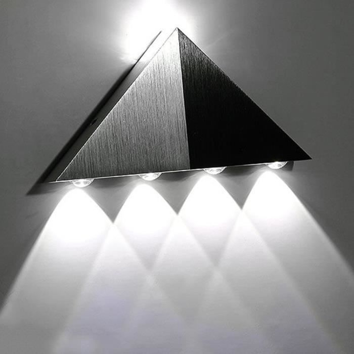 5w aluminium triangle applique murale led blanche lumi re de couleur pour la lumi re maison de. Black Bedroom Furniture Sets. Home Design Ideas