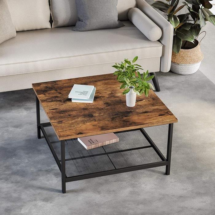 GOPLUS Table Basse avec Plateau Rectangulaire en Verre Tremp/é Chambre Jardin 35 x 55,5 x 65CM Bout de Canap/é de Style Moderne pour Salon
