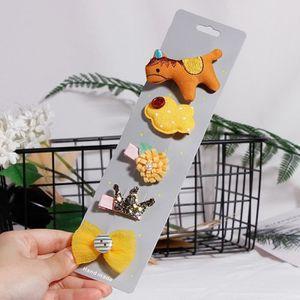 CHIC-CHIC-Lot de 10 Mignon Chat Balle Design N/œud Papillon pour Enfant Fille Barrettes Pince /À Cheveux Pince Accessoires