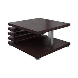 TABLE BASSE Table Basse Oslo 60x60cm Chêne Foncé