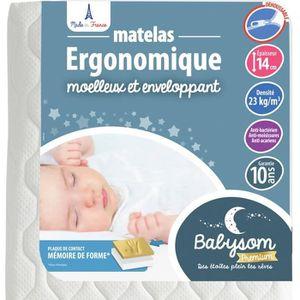 MATELAS BÉBÉ Babysom - Matelas Bébé Ergonomique - 70x140cm - Ep