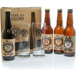 BIÈRE Coffret de 4 bières + 2 verres de la Brasserie Art