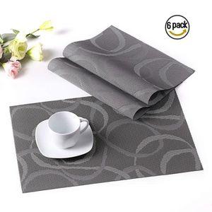 SET DE TABLE LOVECASA, Sets de Table 6 Pcs en PVC Plastique -45