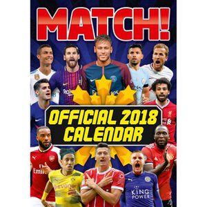 Calendrier De Lavent Football.Calendrier 2018 A3 Match Football Magazine Achat Vente