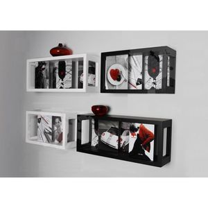 etagere cadre photo achat vente etagere cadre photo pas cher cdiscount. Black Bedroom Furniture Sets. Home Design Ideas