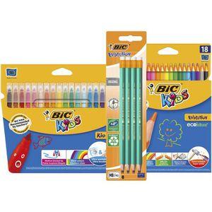 KIT DE DESSIN BIC Kit Rentrée des Classes - 18 Feutres de Colori