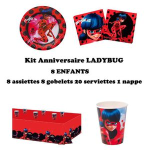KIT DE DECORATION Kit anniversaire Miraculous Ladybug Complet 8 enfa