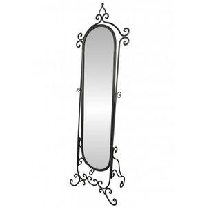 MIROIR Grand Miroir Psyché sur Pied Glace Orientable Meub