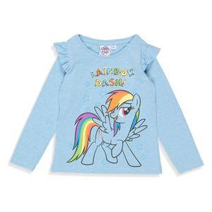 T-SHIRT MON PETIT PONEY T-shirt Licorne Manches Longues Bl