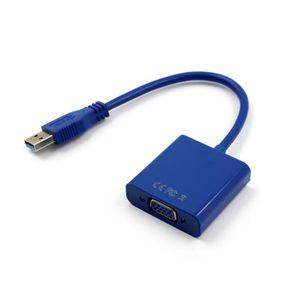 ADAPTATEUR AUDIO-VIDÉO  Câble USB 3.0 vers VGA Convertisseur de câble adap
