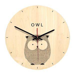 HORLOGE - PENDULE Pendule Murales Chouette Style Simple Horloge Mura