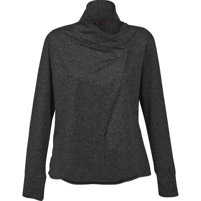 ATHLI-TECH Sweatshirt Emy Gilet - Femme - Gris anthracite chiné