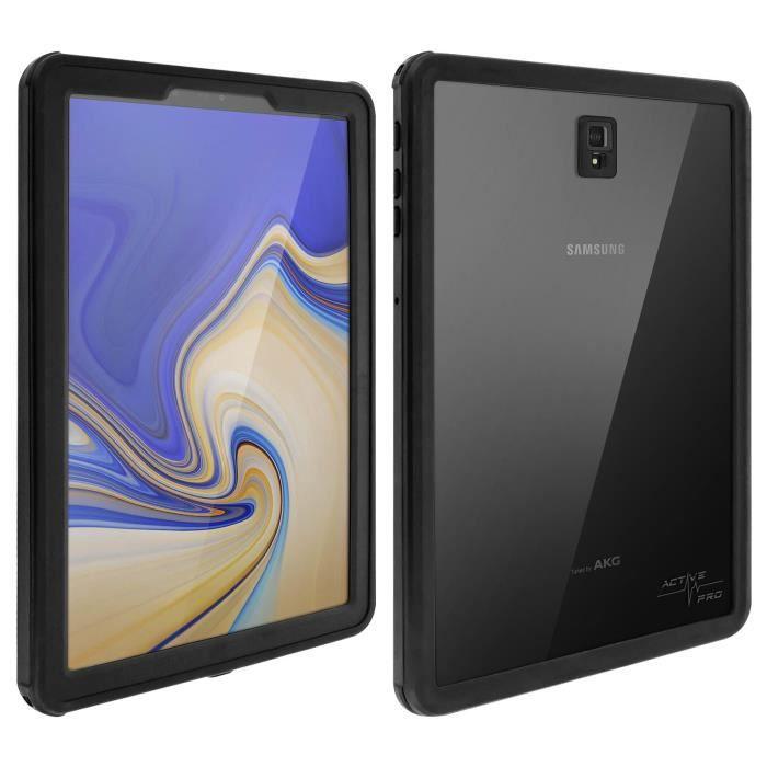 Coque Galaxy Tab S4 10.5 Etanche Antichoc 2m Active Pro 4smarts Transparent Noir