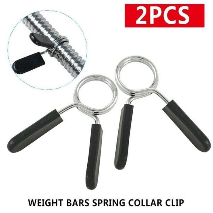 2 pièces 25mm haltères gymnastique Spinlock colliers Barbell collier serrure haltères Clips barre de poids haltère serrure pince res