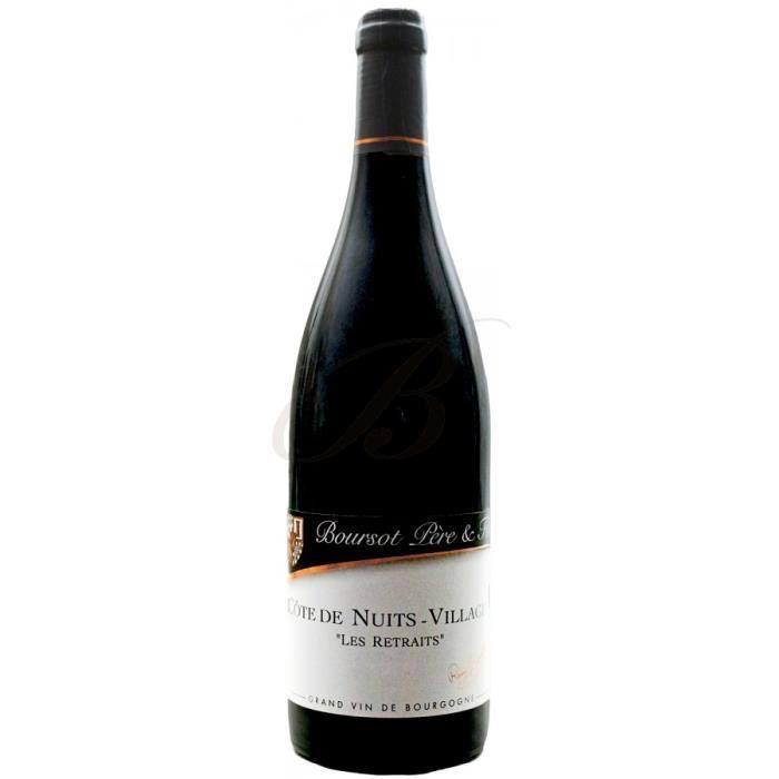 Côte de Nuits-Villages, -Les Retraits-, Domaine Boursot Père & Fils (Bourgogne), 2013 - vin rouge par 6 bouteilles