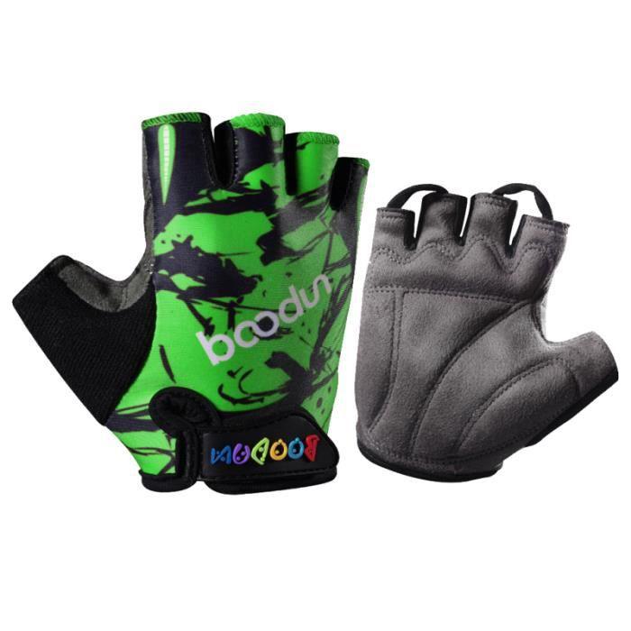 Gants d'extérieur pour enfants gants de demi-doigt respirants antichoc de course de vélo BIKE ACCESSORIES - BIKE DECORATION